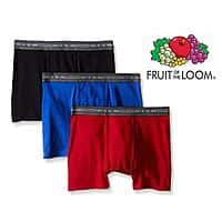 3 Pack of Fruit Of The Loom Trunk Boxer Briefs $  5.99 + fs @13deals.com