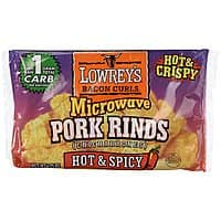 1.75-Oz Lowrey's Bacon Curls Microwave Pork Rinds (Hot & Spicy) $0.98 + Free Shipping w/ Prime or on $25+