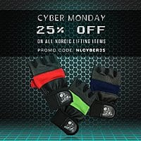 Cyber Monday Weightlifting Accessories sale on Amazon 25% off and Prime shipping by Nordic Lifting $14.96