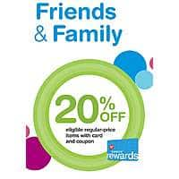 Walgreens Friends and Family Day today 7/14, 20% off your order