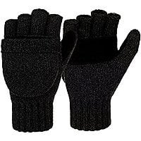 Winter Warm Wool Knitted Convertible Gloves Mittens with Mitten Cover @Amazon $  7.99 + FS