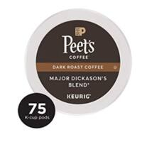 Peet's Coffee Major Dickason's Blend Dark Roast Coffee K-Cup Coffee Pods (75 Count) $28.24