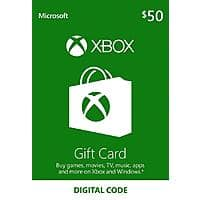 XBOX Live Gift Card: $  50 GC for $  39, $  100 GC for $  78 (Email Delivery)