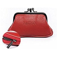Katloo Womens Leather Coin Purse Small Zipper Wallet Clutch Card Holder Kiss Lock for $  7.79 AC @Amazon