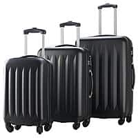 3-Piece Hardside Luggage Spinners Set w/ Built-In Combination Lock (Red or Black) $  49.99 + Free Shipping w/ VISA Checkout
