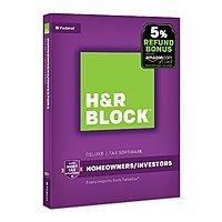 H&R Block 2017 Tax Software: 2017 Deluxe Software + Refund Bonus $  13.99 & More via Amazon