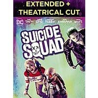 Suicide Squad Extended Cut + Theatrical Version (Digital HD) $5