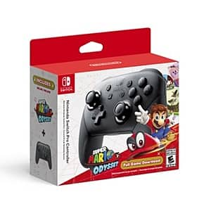 Nintendo Switch Pro Controller Bundled w/ Super Mario Odyssey Digital Game $69 + Free S/H