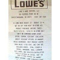 Lowes printing 5 off 25 coupons instore