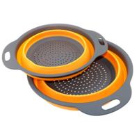 2 Pack-  Food-Grade Silicone kitchen Strainer Space-Saver Folding Strainer Colander $  8.98@Amazon