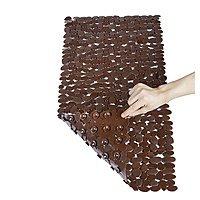 44% off NTTR Non-Slip Pebbles Bath Mat  (Brown,16 W x 35 L Inches) for $  8.95