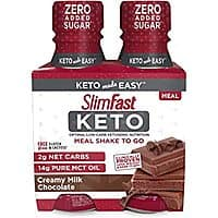 SlimFast Keto Chocolate Shake - Ready to Drink Meal Replacement, (Each 4 Count of 11 Fl Oz Bottles) 44 Fl Oz at Amazon for $4.89