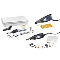 YMMV! Dremel 2290 32-Piece Variable Speed Multipurpose Rotary Tool Kit with Hard Case engraver torch $  12.00 @lowes
