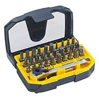 Stanley 32-Piece Screwdriver SPECIALTY driver Bit Set Ratcheting wrench $  9.98 or Kobalt 24 Piece $  10.98 @lowes