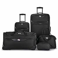 American Tourister 5-Piece Softside, Black for $49.99