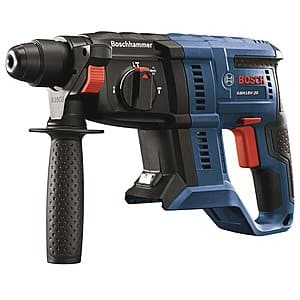 Bosch Bulldog Core18v 3/4-in SDS-Plus Variable Speed Cordless Rotary Hammer Drill + Free 4ah Battery and Charger & Free Shipping $129