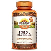 Amazon has 1200 mg, 100 Softgels(2 count)Sundown Naturals Fish Oil Extra Strength for $6.49 with S&S