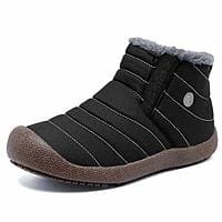 CIOR Men and Women Snow Boots Fur Lined Winter Outdoor Slip On Shoes Ankle Boots $13.50