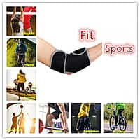 E-Laurels Neoprene Elbow Support One Size Adjustable Wrap Elbow Brace Support for Right/Left Tendonitis Tennis Elbow Strap Reduce Joint Pain During Any Activity(Single Pack)-$  7.99
