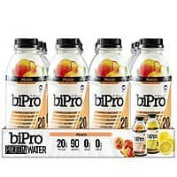 BiPro Protein Water, BOGO Free, Peach and/or Berry, 16.9 Oz bottles, Pack of 12 x 2, $  24.99