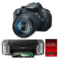 Canon Camera's w/ $350 MIR: SL2 DSLR w/ 18-55mm $399, T5i  18-135 $499,T7i Video Kit $629 & More + free shipping