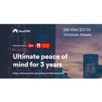 3-Year NordVPN Subscription $80 After $27 Slickdeals Rebate