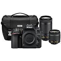 Nikon D7500 4K DSLR Camera w/ 18-55mm & 70-300mm VR Lenses + Case (Factory Refurb) $899 + free s/h