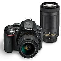 (refurb by nikon usa) Nikon D5300 DSLR Camera w/ 18-55mm VR & 70-300mm Lens $400 + free s/h