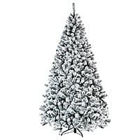 7.5 Ft Snow Flocked Hinged Artificial Christmas Tree $68 + free s/h