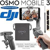 DJI Osmo Mobile 3 Gimbal + 64GB SanDisk Memory + Audio-Technica BT Headphones $109 & More + Free S&H