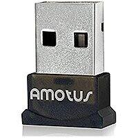 Amotus USB Bluetooth 4.0 EDR Wireless Micro Adapter [Low Energy] Silver Plate USB Dongle for PC Laptop with Windows 10 8.1 8 7 Vista