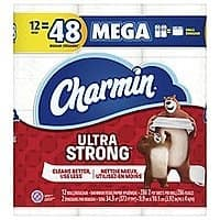 42-Ct Charmin Mega Toilet Paper Rolls (Ultra Soft/Strong) + $10 Rewards Points $35.50 with Free Shipping