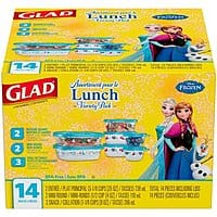 Glad Lunch Variety Pack Disney Frozen Food Storage Containers, 14 pc, BPA Free $  2.39 pick up in Walmart
