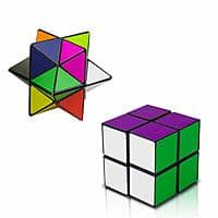 Magic Star Cube,SHONCO 2 in 1 Combo Infinity Cube Toy Transforming Geometric Puzzle 3D Assembly Fidget Stress Anxiety Relief Magic Puzzle Cubes for Kids and Adults $  7.08