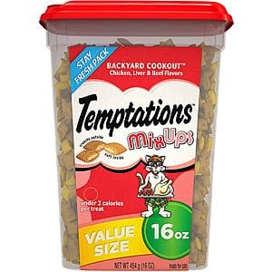 16-Oz Temptations Mixups Crunchy and Soft Cat Treats (Chicken, Liver, Beef) $3.95 w/ Subscribe & Save