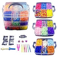 800 Colorful Rubber Band Bracelet Loom Refill Kit Fun DIY for Kids With Storage Case $  12.74 @Amazon
