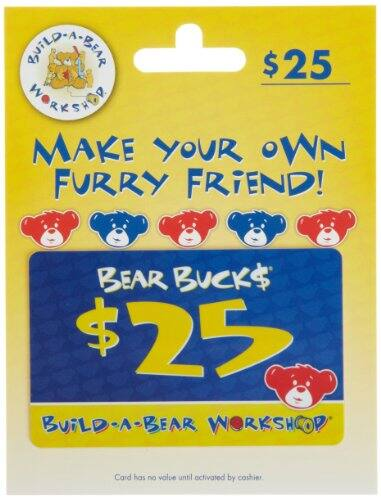 Amazon Prime Day - Build a Bear $25 Gift Card for $20