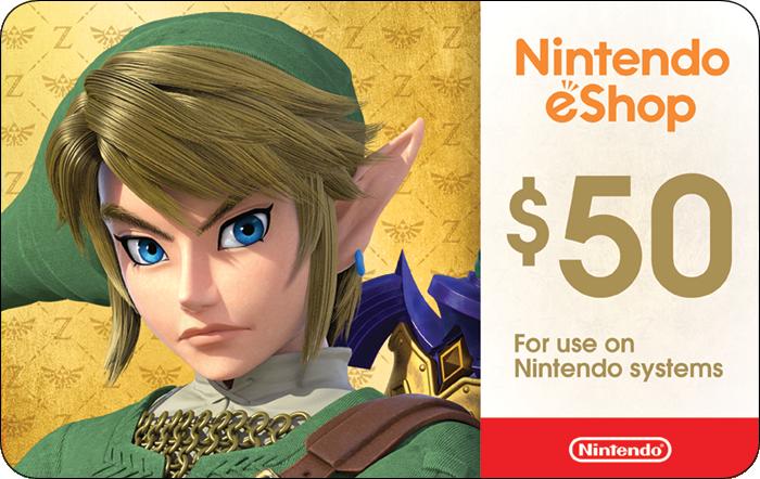 $50 Nintendo eShop Gift Card $45