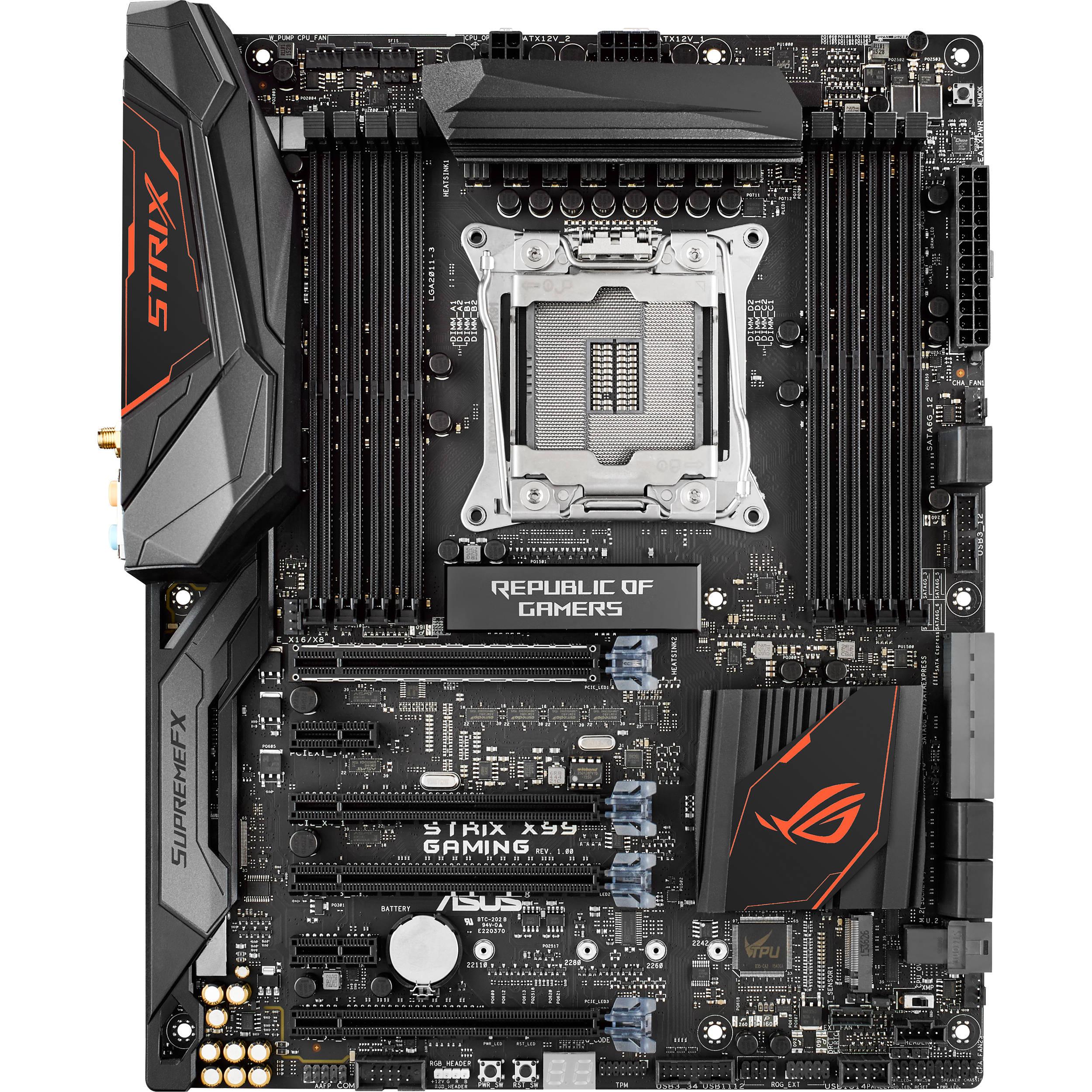 ROG STRIX X99 GAMING Desktop Motherboard - Intel Chipset - Socket LGA 2011-v3 $16