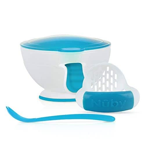 Add-on Item  Nuby Garden Fresh Mash N' Feed Bowl with Spoon and Food Masher for $4.50