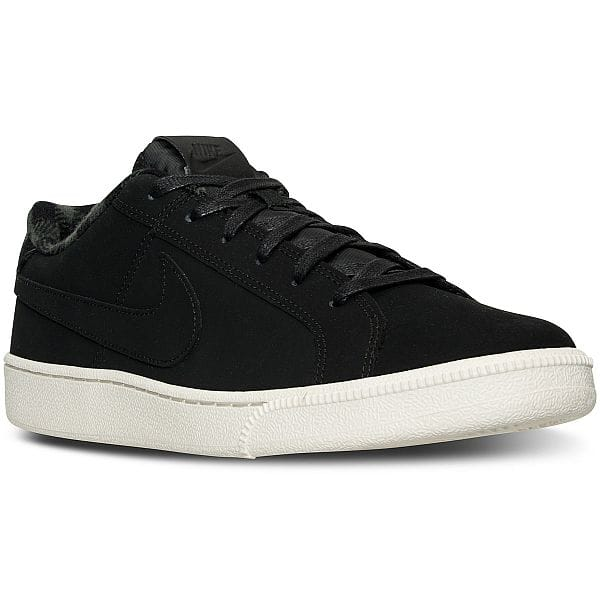 Nike Men's Court Royale Premium Casual Sneakers (Black/Anthracite) - $34.98