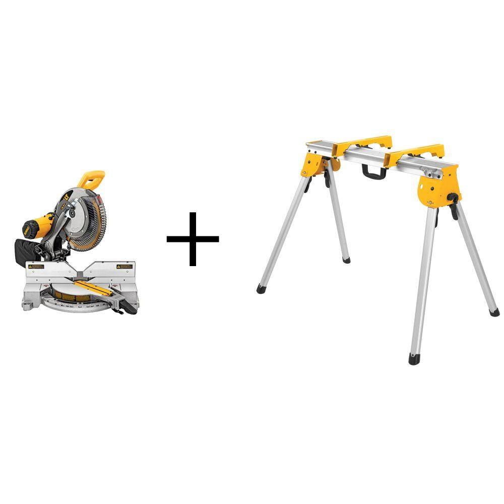 Home Depot has DEWALT 15 Amp 12 in. Double-Bevel Compound Miter Saw with Heavy-Duty Stand for $299