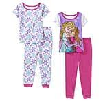 Disney Frozen Toddler Pajamas, 4 piece set on clearance for $9