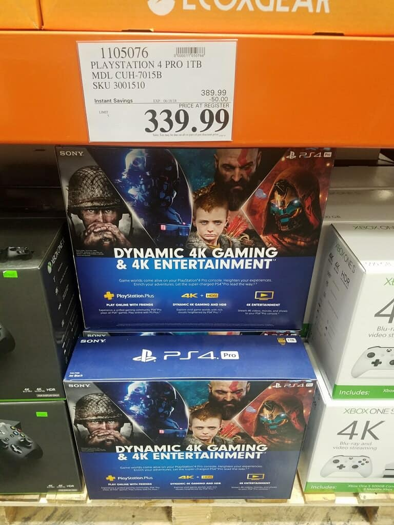 PS4 Pro 1TB Costco $339.99