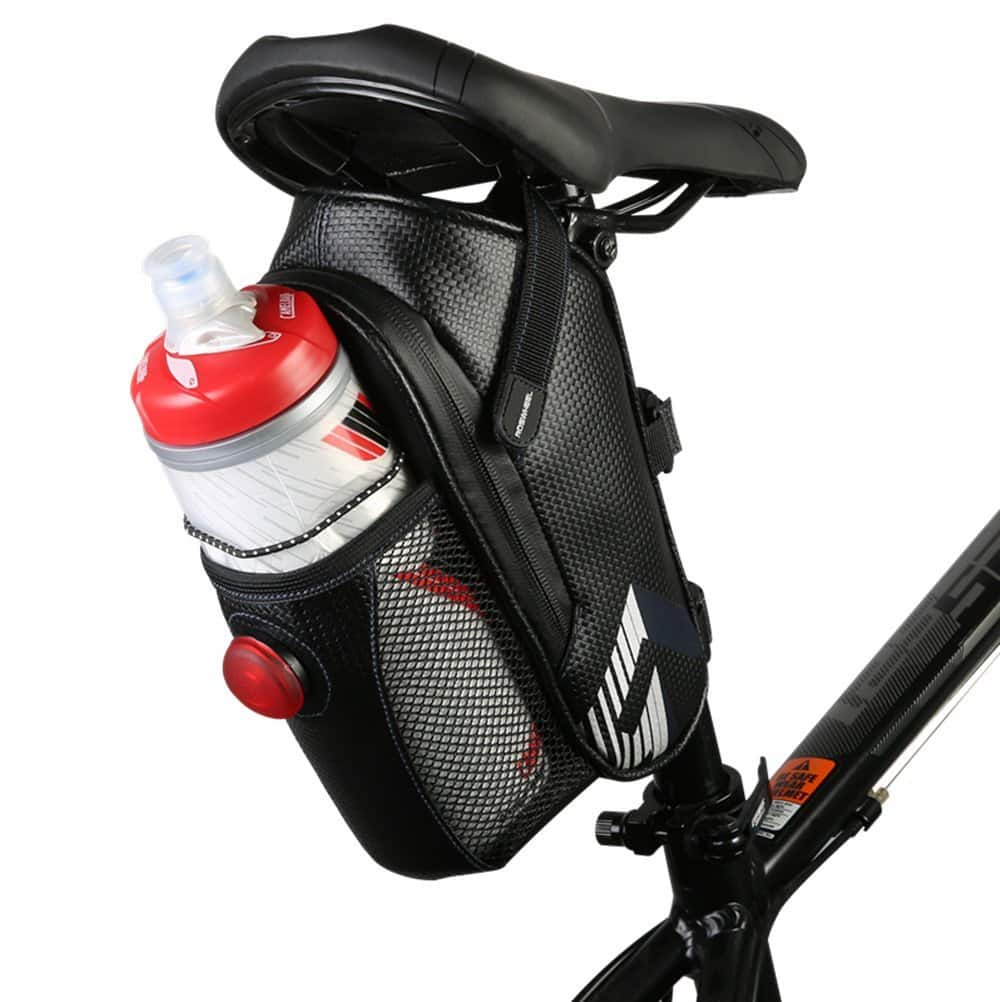 Waterproof Bicycle Seat Mounted Saddle Bag with Tail Light $6.50 AC FS w/ Prime