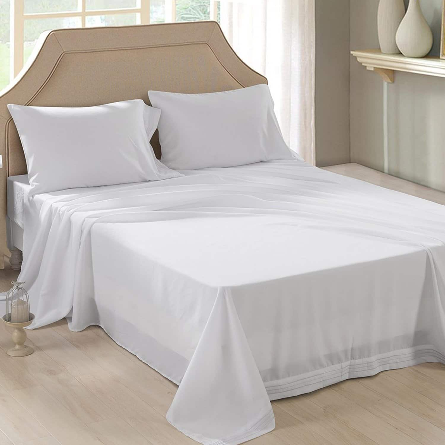 4-piece Ultra Soft Bedding Microfiber Queen Bed Sheet Set from $6.49 AC FS w/ Prime