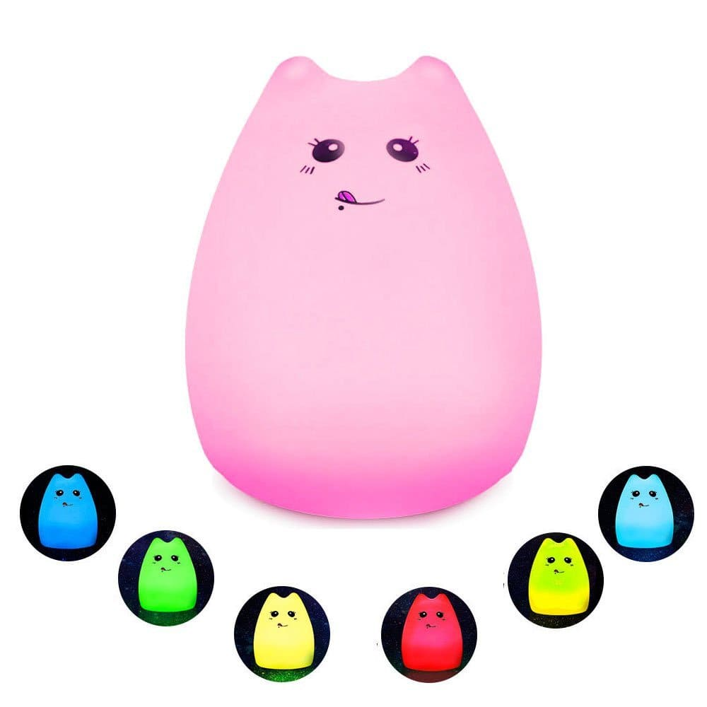 Portable Silicone USB Rechargeable Multicolor LED Night Light $7.97 AC FS w/ Prime