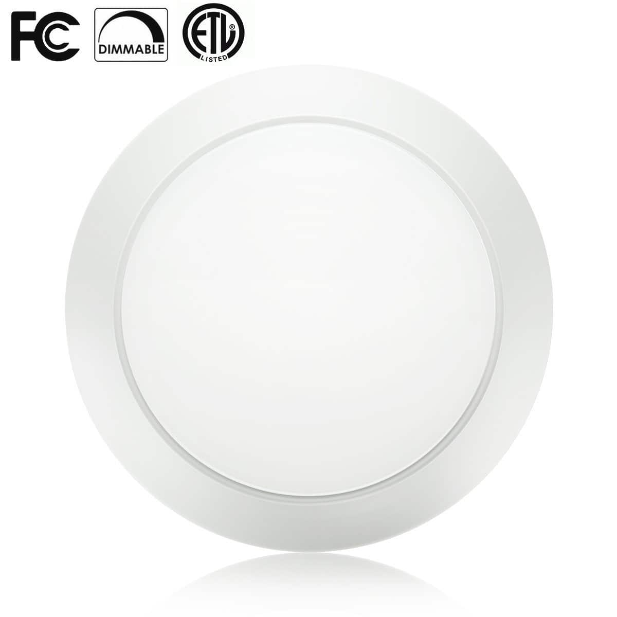 Flush Mount Dimmable LED Disk Light Ceiling Fixture $9.89 AC FS w/ Prime