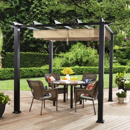 Cool Better Homes and Gardens Meritmoor Aluminum Steel Pergola with Single Finish Walmart B uM for YMMV Slickdeals net