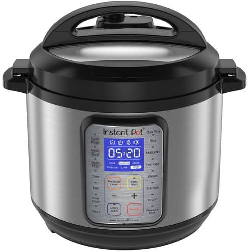 Instant Pot DUO Plus 6 Qt Pressure Cooker, Slow Cooker, Rice Cooker, Yogurt Maker, Egg Cooker, Sauté, Steamer, Warmer, and Sterilizer [6 Quart Plus] $74.95